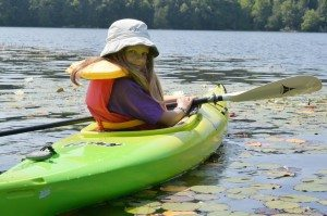 Mallory in the kayak