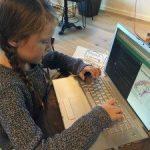 My girl learns code